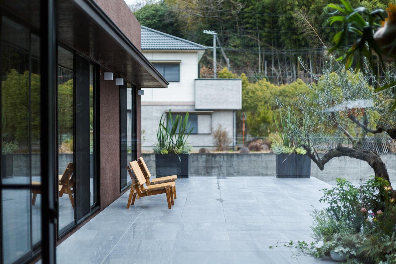 上富田町平屋の家 H邸の部屋 広々としたテラス