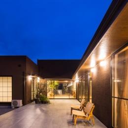 上富田町平屋の家 H邸-リビングと一体感のあるテラス