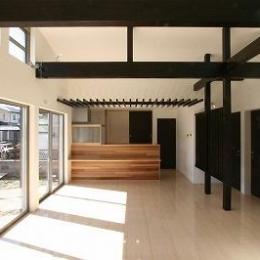 赤坂町の平屋~平屋を活かした高天井のある住まい