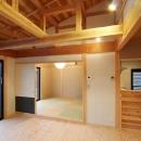 和小屋の家~大工のこだわりを活かした住まいの写真 和小屋と無垢板のリビング