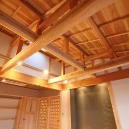 和小屋の家~大工のこだわりを活かした住まい (和小屋構造の天井)