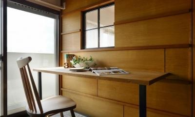 都市部でも、外を感じることのできるマンションリノベ(中京区マンションリノベーション) (スタディーコーナー)