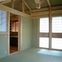 下北沢の家=東京都 瓢箪邸 (琉球畳と珪藻土の壁と天井の和室)