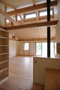 伊豆高原の家=静岡県 音楽ホールのような家の写真 機能がコンパクトにまとめられた書斎