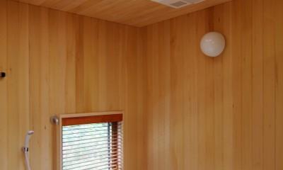 伊豆高原の家=静岡県 音楽ホールのような家 (広々した浴室)