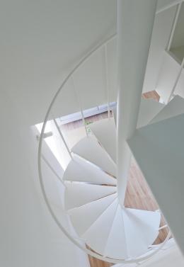 home HR (白い螺旋階段を見下ろす)