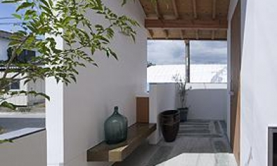 K邸 H19 (青石を玄関やポーチの敷石として再利用)
