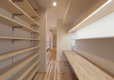 H邸 RE16の部屋 収納たっぷりのスタディコーナー