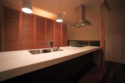 キッチン夜景 (竹林風洞)