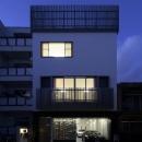 大阪城を望む都市型住宅の写真 ファサード (夜景)