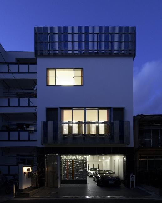 大阪城を望む都市型住宅の部屋 ファサード (夜景)