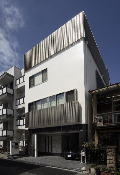 大阪城を望む都市型住宅 (外観)