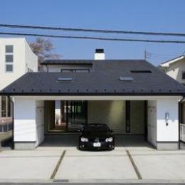 ガレージの家 (ビルトインガレージのある外観)