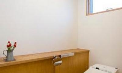 白壁と木の家 (トイレ)