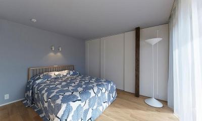 落ち着く寝室|saisou house