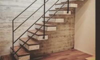 内階段|こだわりの注文住宅 RC×木造の混構造