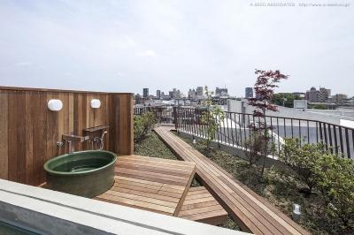 和風庭園 (庭と共に時を刻む家「Garden on garden」)