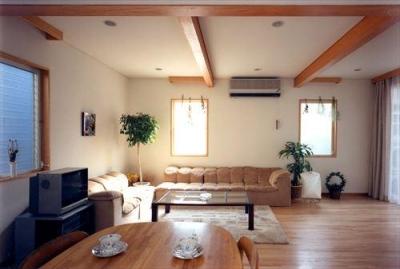 ローコストなデザイン住宅 (落ち着くリビング)