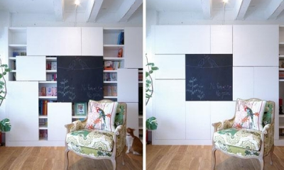 Glisse—個性的な家具に合わせた自分らしい空間 (壁一面の収納)