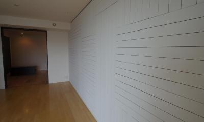 リビング木板貼り+塗装 インテリアリフォーム