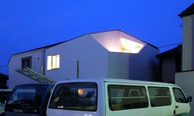 オブジェ的な形態の住宅|赤塚の住宅