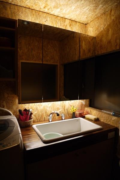 京都福知山の家リノベーション (洗面)