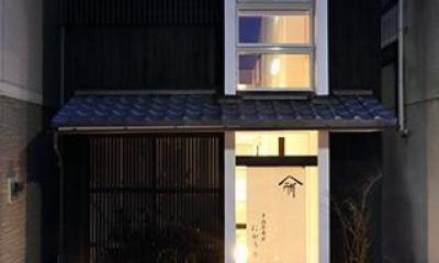 室内まで続く路地のあるゲストハウス(宇治民宿・宇治壱番宿にがうり) (外観)