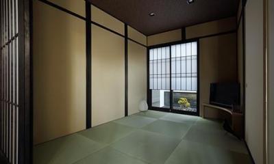 室内まで続く路地のあるゲストハウス(宇治民宿・宇治壱番宿にがうり)