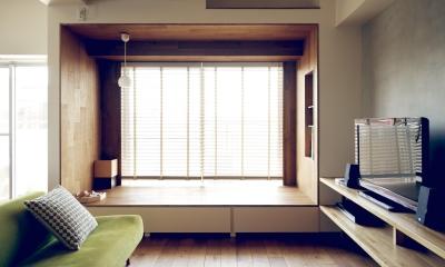 リビングルーム|『御器所のマンション K邸』 〜小上がりを使った居場所づくり〜