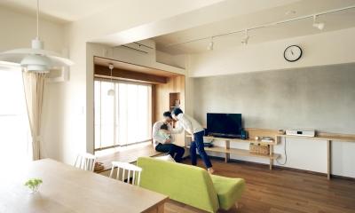 『御器所のマンション K邸』 〜小上がりを使った居場所づくり〜 (リビング)