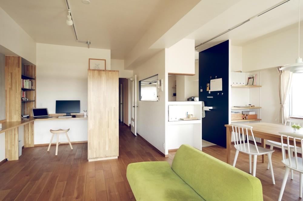 『御器所のマンション K邸』 〜小上がりを使った居場所づくり〜 (LDK)
