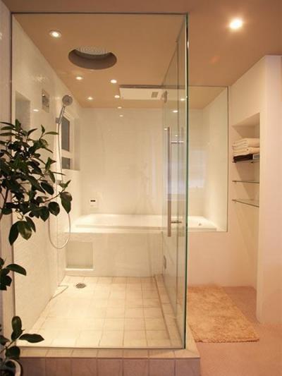バスルーム (HiSAKi—築48年でも、高級スイートルームに)