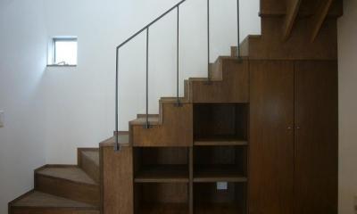 階段 旗竿地のコートハウス