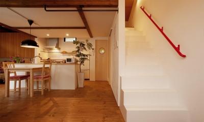 ロフトへの階段|K邸・古いお家を思い切り楽しむ。光あふれる元気な住まい