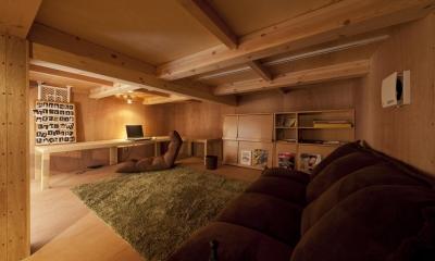 中二階ロフト|下丸子の住宅