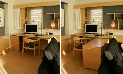 『天白区のマンション U邸』 〜 オリジナル収納家具によるマンションリノベーション 〜 (ダイニング・書斎コーナー)