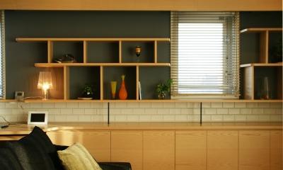 『天白区のマンション U邸』 〜 オリジナル収納家具によるマンションリノベーション 〜 (リビング)