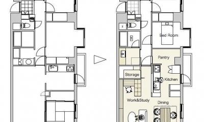 『御器所のマンション K邸』 〜小上がりを使った居場所づくり〜