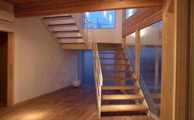 オープン型階段 (k-house)