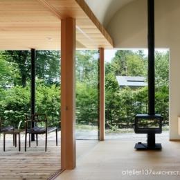 031軽井沢Tさんの家 (リビング/ダイニング)