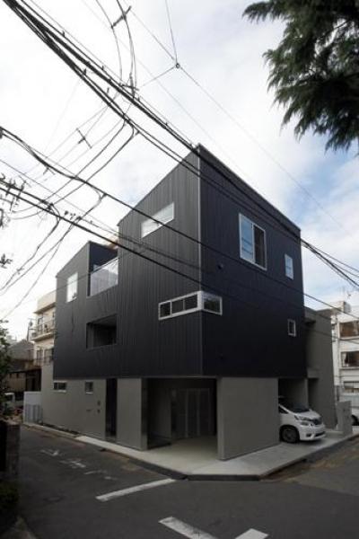 ほどよい距離感のある家 (黒い外観)
