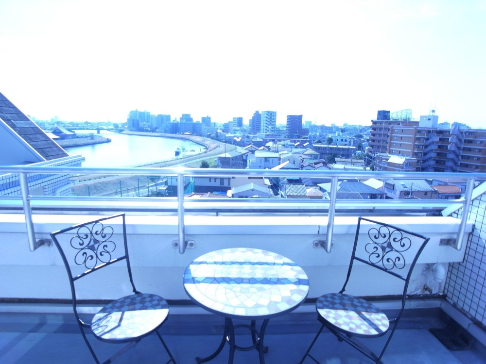 葛飾の一等地に建つ最上階、一部屋(ペントハウス)の魅力あふれるリノベーションマンション (ルーフバルコニーは眺望を楽しむカフェテラス)
