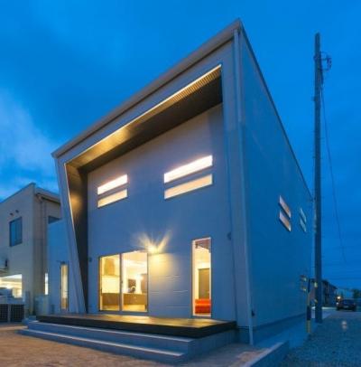 デザインにこだわったシンプルモダン住宅 (外観)
