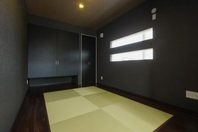 デザインにこだわったシンプルモダン住宅 (和室)