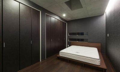 デザインにこだわったシンプルモダン住宅 (ベッドルーム)