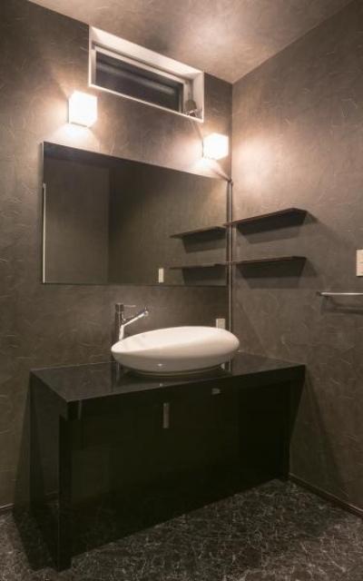 デザインにこだわったシンプルモダン住宅 (洗面)