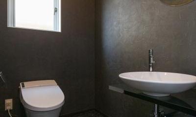 トイレ|デザインにこだわったシンプルモダン住宅