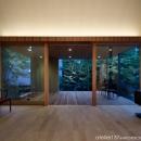 031軽井沢Tさんの家の写真 リビング夕景