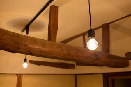 古民家改修プロジェクトの部屋 ペンダントライト
