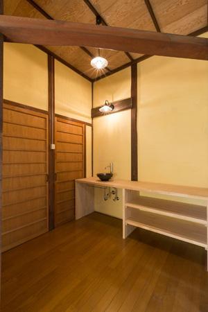 古民家改修プロジェクトの部屋 手洗い場